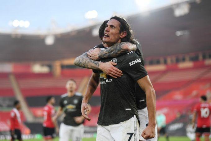 Cavani đã có 3 bàn cho Man Utd ở Ngoại hạng Anh. Ảnh: Reuters.