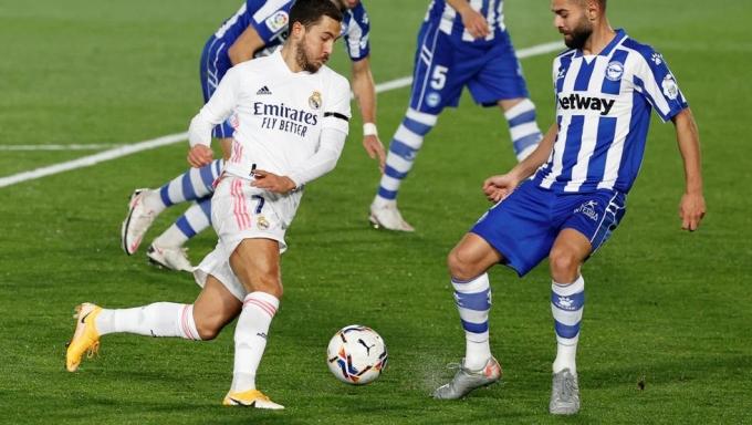 Hazard chỉ còn là cái bóng mờ so với thời chơi cho Chelsea, nơi anh ghi 110 bàn trong 352 trận. Ảnh: Reuters.