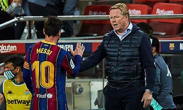 Koeman (phải) thể hiện cá tính từ khi dẫn dắt Barca, cùng tỷ lệ thắng 64%. Ảnh: EPA