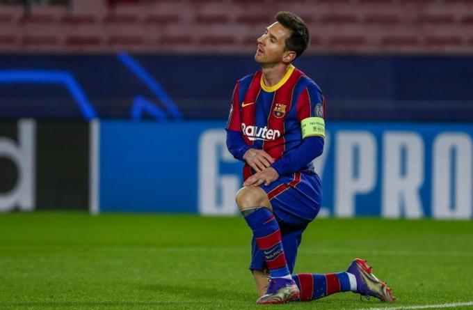 Cả bảy pha dứt điểm hướng khung thành của Barca đều do Messi thực hiện, nhưng Buffon đều cứu thua. Ảnh: AP