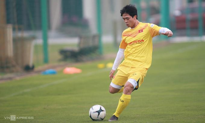 Việt Nam không đá trận tính điểm FIFA nào trong năm 2020, nhưng vẫn lên một bậc. Ảnh: Lâm Thỏa