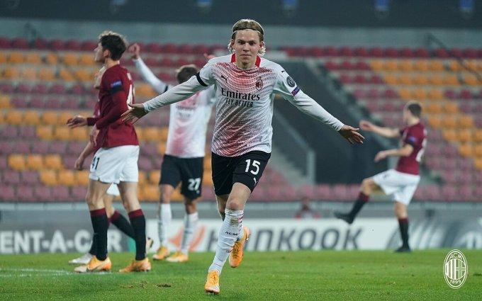 Jens Hauge solo ghi bàn thứ ba ở Europa League mùa này. Ảnh: Gazzetta