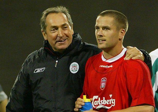 Houllier và Owen trong thời kỳ cả hai cùng làm việc ở Liverpool. Ảnh: Reuters.