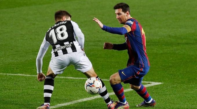 Messi đã ghi 449 bàn cho Barca tại La Liga, một kỷ lục của CLB và giải đấu. Ảnh: Reuters.