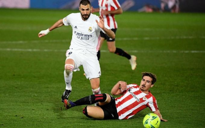 Cú đúp vào lưới Bilbao mới là các bàn thứ năm và thứ sáu của Benzema tại La Liga mùa này. Tính trên mọi mặt trận từ đầu mùa, anh cũng chỉ mới có 10 bàn. Ảnh: AFP