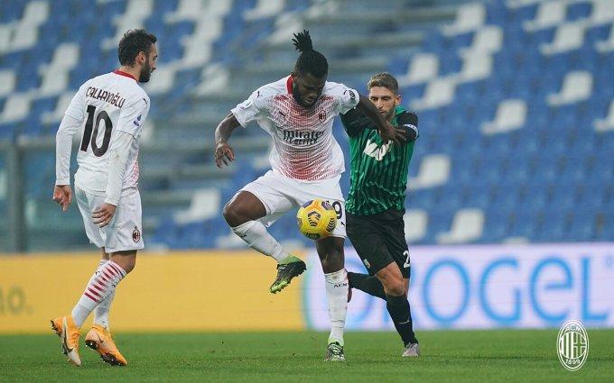 Sassuolo không tạo được đột biến trước thế trận chắc chắn của Milan. Ảnh: AC Milan