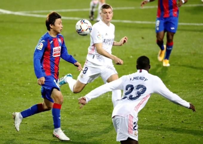 Eibar chơi không tệ sau khi bị dẫn hai bàn, nhưng không thể tạo đột biến để đảo ngược tình thế. Ảnh: EFE