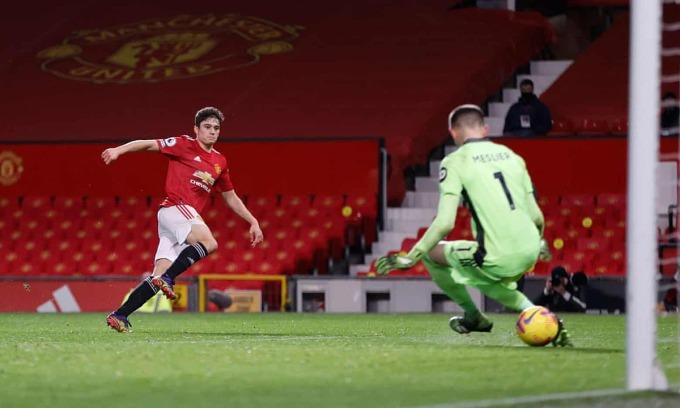 Daniel James ghi bàn trở lại sau thời gian dài chấn thương. Ảnh: Reuters.