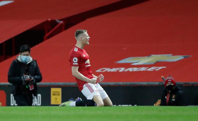 McTominay chỉ cần ba phút để đem lại lợi thế lớn cho Man Utd. Ảnh: Reuters.