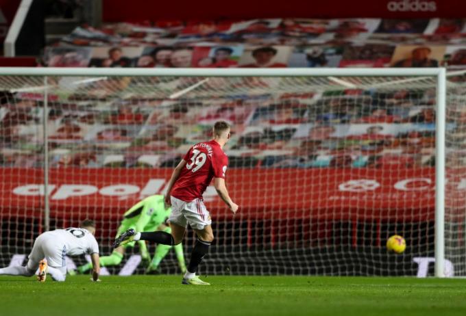 McTominay mở tỷ số ngay phút thứ hai, mang lại lợi thế lớn cho Man Utd. Ảnh: Times