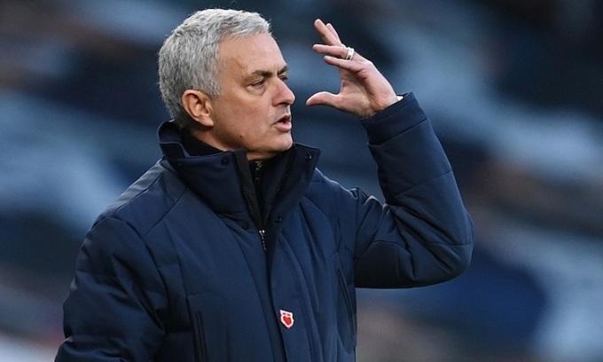 Mourinho thừa nhận Tottenham nhập cuộc không tốt trước Leicester. Ảnh: Reuters.