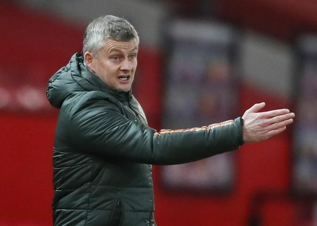 Solskjaer và Man Utd lên thứ ba Ngoại hạng Anh sau trận thắng Leeds. Ảnh: Reuters.