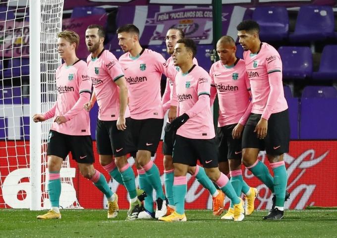 Hàng công Barca dứt điểm bảy lần trúng đích và ghi ba bàn. Ảnh: Marca.