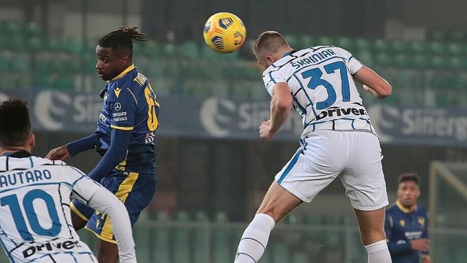 Skriniar (số 37) ấn định chiến thắng cho Inter. Ảnh: Italie.