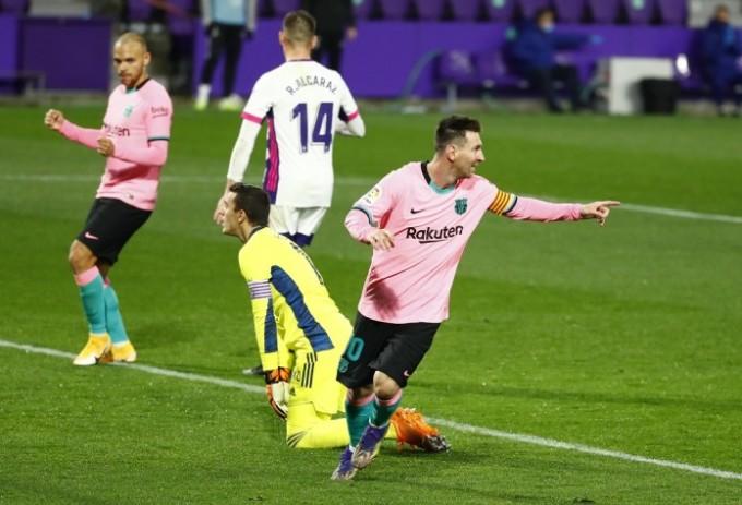 Messi đã vượt qua Pele để trở thành cầu thủ ghi nhiều bàn nhất cho một CLB. Ảnh: Reuters.