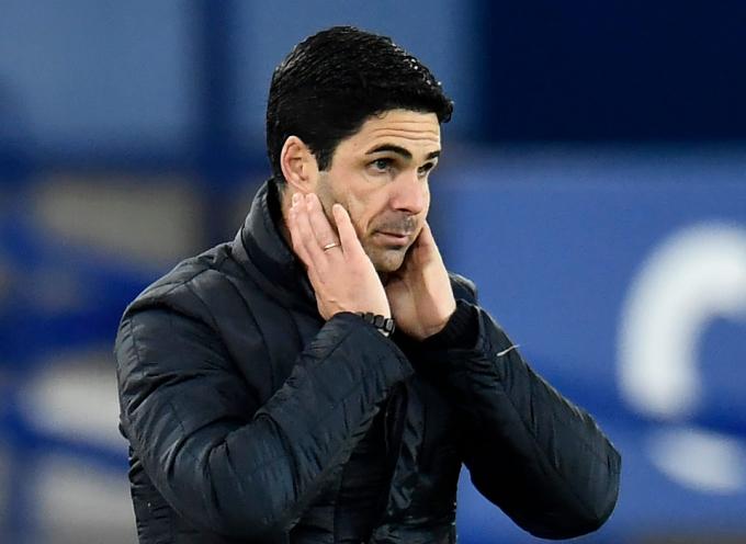 Đoàn quân của Arteta không thắng bảy trận gần nhất ở Ngoại hạng Anh, thua năm trận. Ảnh: Goal.