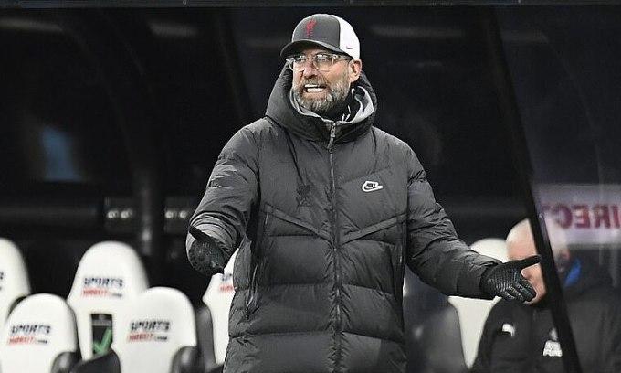 Klopp hài lòng với lối chơi của cầu thủ Liverpool sau trận hòa Newcastle. Liverpool vẫn kết thúc năm 2020 với trung bình 2,2 điểm mỗi trận Ngoại hạng Anh. Ảnh: AP