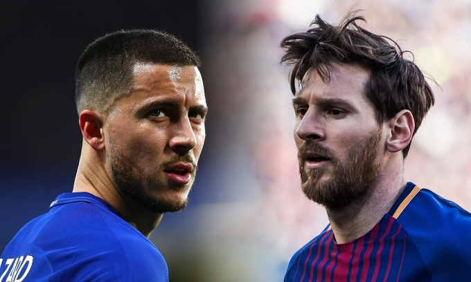 """Hazard : """"Tôi muốn lấy 2 thứ đó từ Cristiano Ronaldo và Messi"""""""