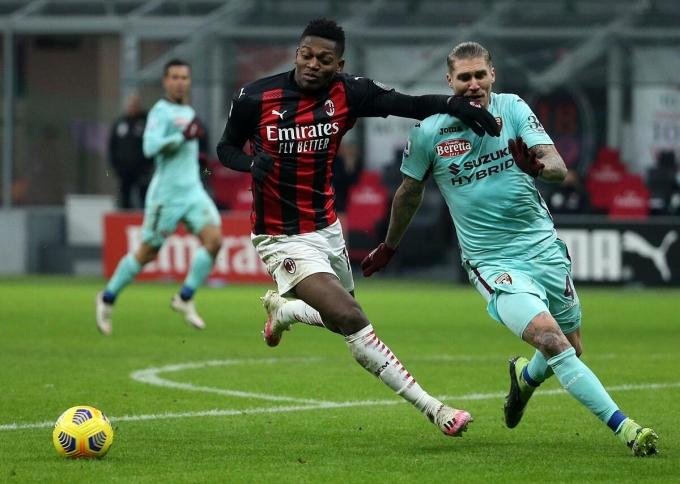 Leao ghi một bàn và chứng tỏ là sự thay thế xứng đáng cho đàn anh Ibrahimovic ở vị trí mũi nhọn của Milan. Ảnh: ANSA