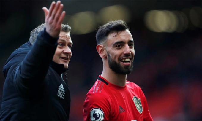 Solskjaer cho rằng Man Utd không cần thêm một thương vụ như Fernandes. Ảnh: Reuters.