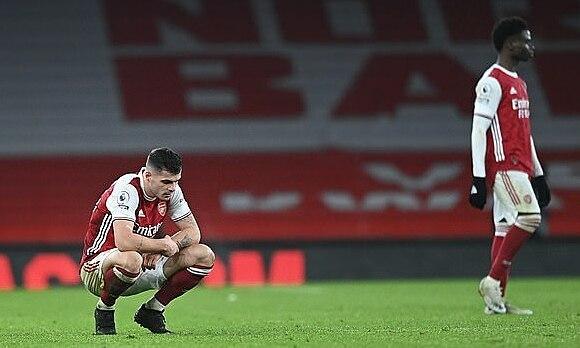 Mạch bốn trận thắng liên tiếp của Arsenal dừng lại. Ảnh: NMC