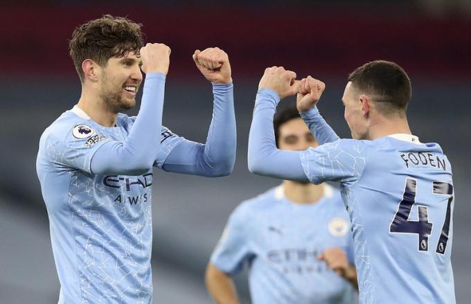 Man City trở lại cuộc dua vô địch sau bảy trận thắng và hai hòa trong chín vòng Ngoại hạng Anh gần nhất. Ảnh: AP.