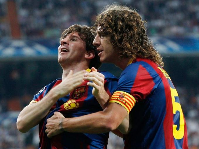Messi không có cái uy và sự mạnh mẽ như đàn anh Puyol năm xưa. Ảnh: AFP