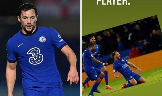 Bức ảnh gây tranh cãi được Drinkwater đăng lên mạng xã hội. Anh chỉ ra sân 23 lần cho Chelsea trong ba năm qua. Ảnh: Express.