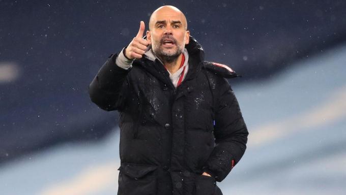 Thầy trò Guardiola đang có chuỗi thắng ấn tượng nhất Ngoại hạng Anh mùa này. Ảnh: Sky.
