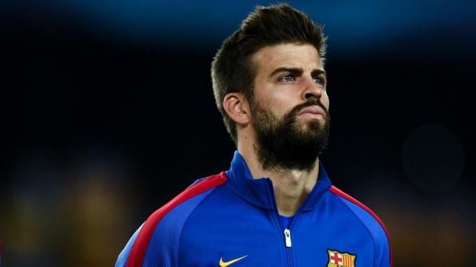 Pique đang trải qua mùa giải thứ 13 trong đội hình Barca sau khi đã chơi tổng cộng 553 trận. Ảnh: Goal.