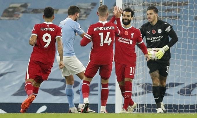 Liverpool từng nhiều lần đánh bại Man City dưới thời Klopp. Ảnh: Reuters.
