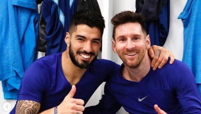 Suarez đoạt mọi danh hiệu cùng Messi ở Barca, giai đoạn 2014-2020. Ảnh: Marca.