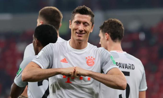 Lewandowski ghi 29 bàn trong 27 trận mùa này. Ảnh: Bundesliga