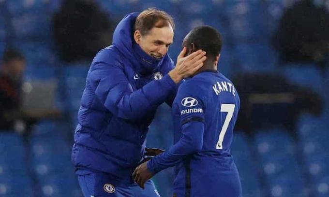 Tuchel khen ngợi Kante sau trận thắng Newcastle. Ảnh: Reuters.