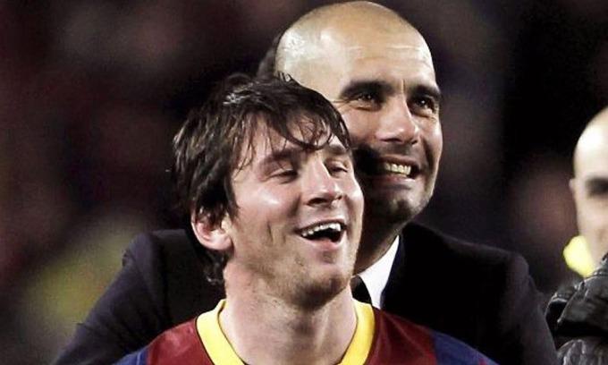 Guardiola khao khát sở hữu cầu thủ như Messi, dù Man City đạt mạch thắng 16 trận. Ảnh: EPA