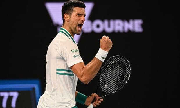 Djokovic tiến thêm một bước trong hành trình chinh phục Grand Slam thứ 18. Ảnh: AP.