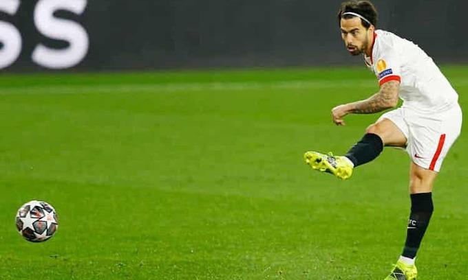 Bàn thắng sớm của Suso không mở ra một trận đấu thành công cho Sevilla. Ảnh: Reuters.