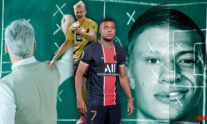 Mbappe và Haaland cùng được Zidane kỳ vọng trở thành hai siêu sao mới của giới túc cầu. Ảnh: Marca