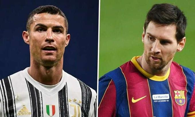 Ronaldo (trái) và Messi đều muốn sống ở Mỹ trong tương lai. Ảnh: Goal