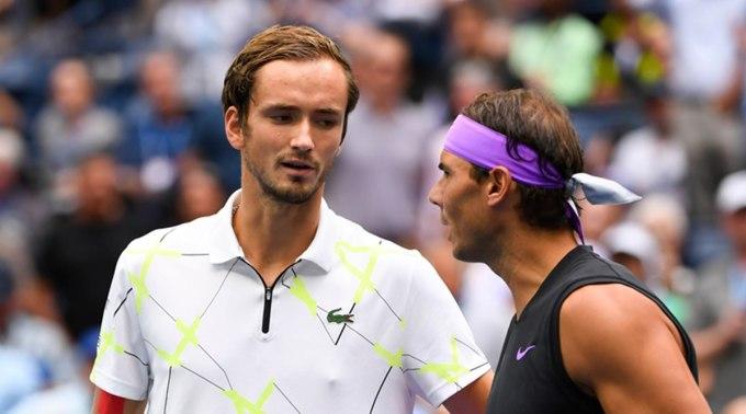 Medvedev tham dự liên tiếp hai giải sau khi vào chung kết Australia Mở rộng, còn Nadal chưa trở lại. Ảnh: ATP.
