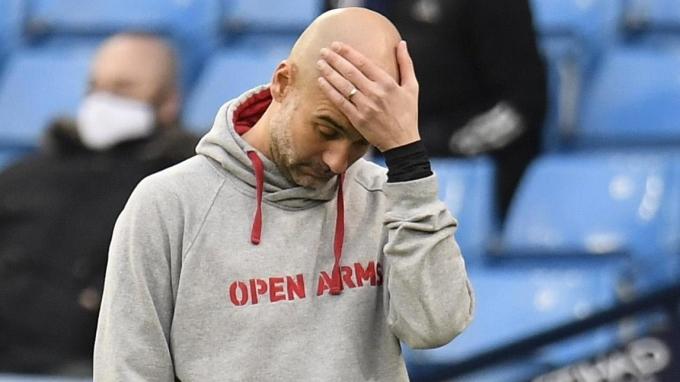 Guardiola nhận ba trận thua liên tiếp trước Solskjaer ở Etihad. Ảnh: Reuters