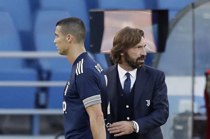 Ronaldo bị cho là không phù hợp với triết lý bóng đá mà Pirlo đang xây dựng cho Juventus. Ảnh: AP