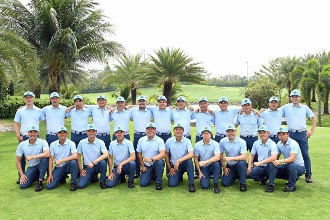 Tuyển golf miền Nam chuẩn bị tranh tài ở VGA Union Cup giữa tháng Ba này. Ảnh: Gia Khoa