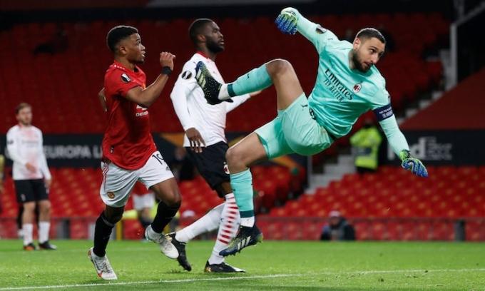 Pha lập công vào lưới Milan là bàn đầu tiên của Diallo cho Man Utd. Ảnh: Reuters.