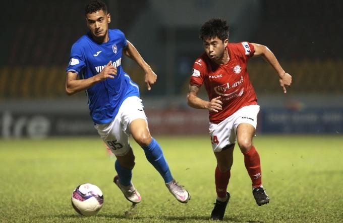 Sức ảnh hưởng của Lee Nguyễn còn hạn chế trong trận đấu im tiếng của hàng công TP HCM. Ảnh: Lâm Thoả.