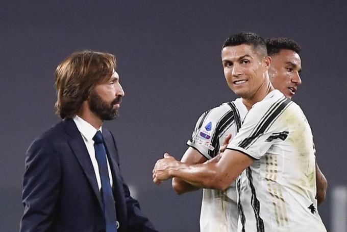 HLV Pirlo và Ronaldo còn mục tiêu vô địch Serie A và Coppa Italy mùa này. Ảnh: AS.
