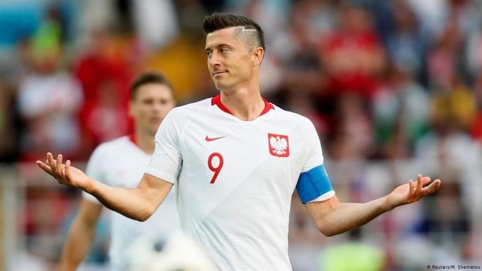 Lewandowski là niềm hy vọng số một của tuyển Ba Lan ở vòng loại World Cup 2022. Anh đang giữ kỷ lục ghi bàn của đội tuyển này với 63 lần lập công. Ảnh: Reuters