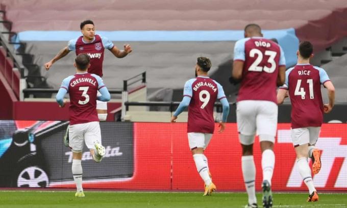 Lingard tiếp tục thể hiện phong độ cao từ khi khoác áo West Ham. Ảnh: Reuters.