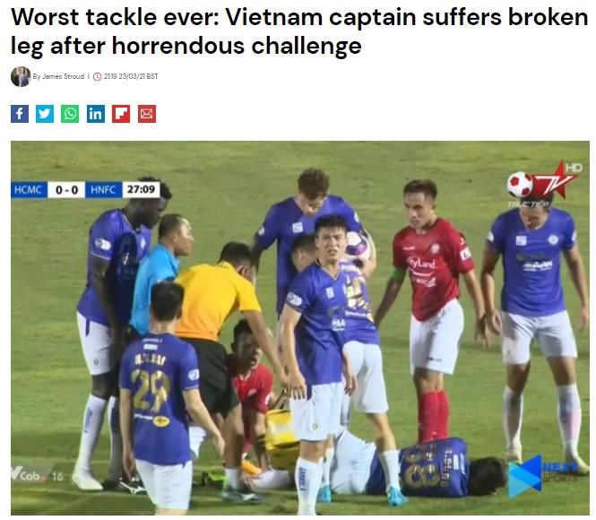 Marca cho rằng Hùng Dũng hứng chịu chấn thương đáng sợ nhất với nghiệp cầu thủ. Ảnh: Chụp màn hình.