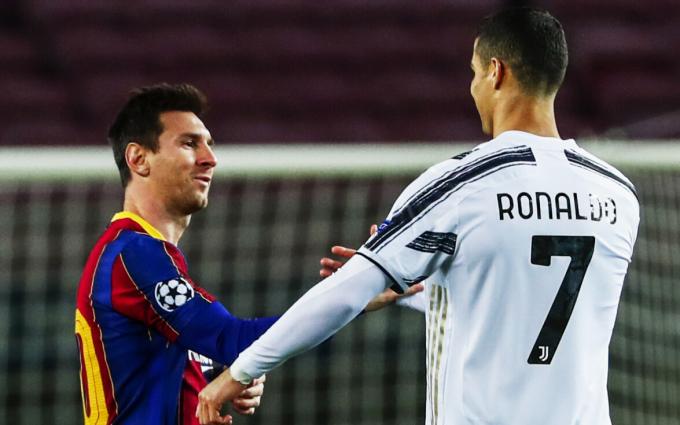 Tương lai của cả Ronaldo lẫn Messi đều đang không rõ ràng, mở ra cơ hội để Inter Miami mời cả hai sang Mỹ chơi bóng. Ảnh: AFP